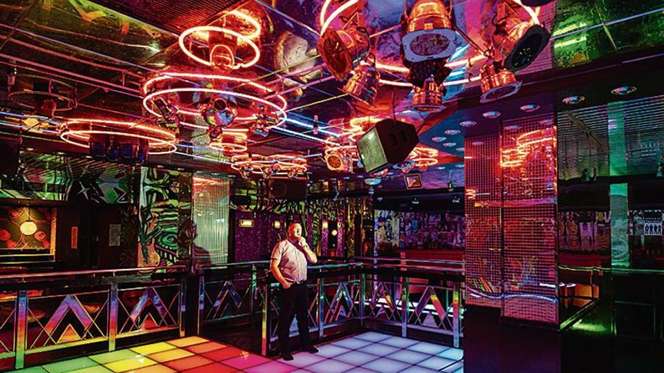 Inside a UK nightclub closed due to Covid-19 restrictions.