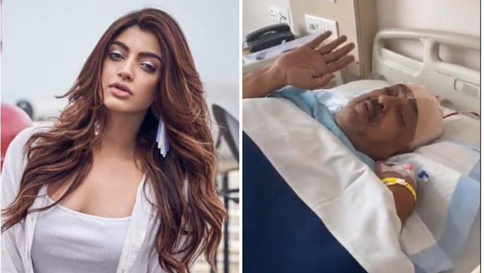 Actor Akanksha Puri's father successfully undergoes brain surgery, she shares video of him from hospital