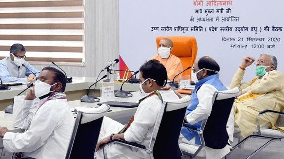 CM Yogi Adityanath pointed out that defence and aerospace, warehousing, data centres, electrical vehicles and pharma were some of the emerging investment sectors in UP. (Photo @CMOfficeUP)