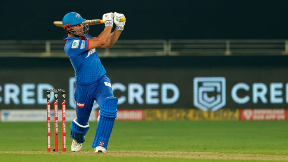 IPL 2020: Marcus Stoinis in action against Kings XI Punjab.