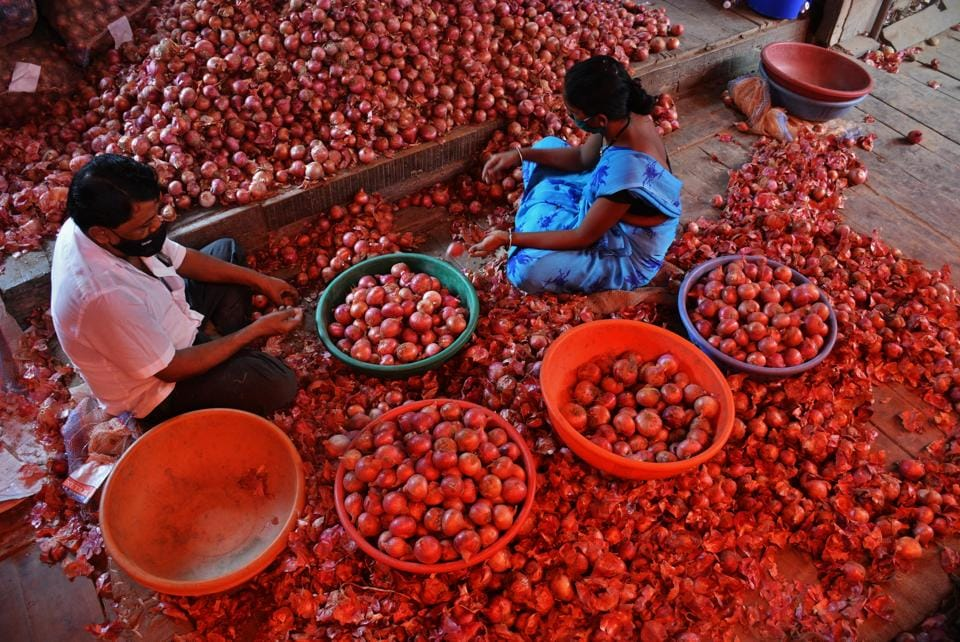 The Centre has banned the export of onions of all varieties.