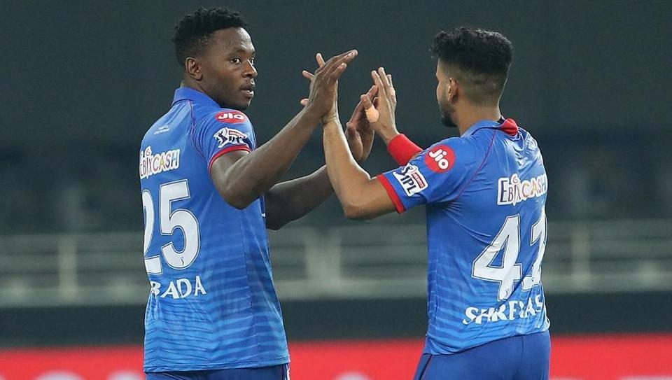 Delhi Capitals players celebrate after defeating Kings XI Punjab in the super over.