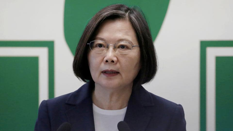 Taiwan President Tsai Ing-wen says the island is already an independent country called the Republic of China, its formal name, and that the People's Republic of China has never ruled Taiwan and has no right to.