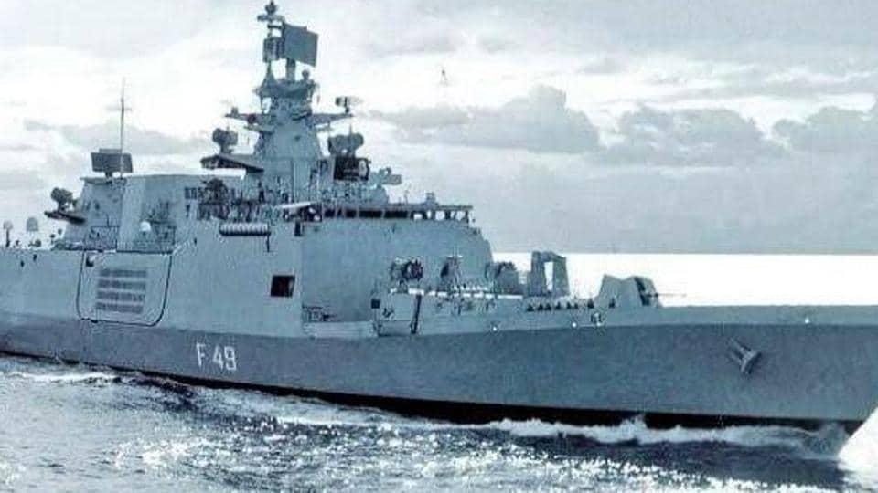 File photo of Indian naval ship Sahyadri. (Photo @indiannavy)