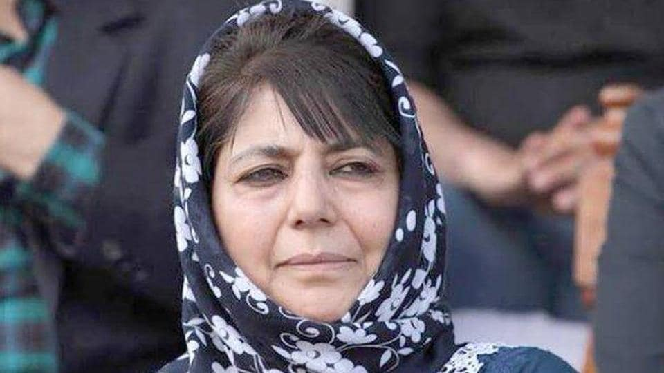 File photo of PDP president Mehbooba Mufti who has been in detention since August 5 last year.  (Photo @jkpdp)