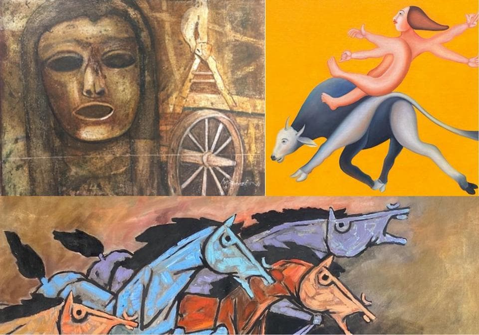 Rare artworks by 3 master artists of India in a new concept auction.