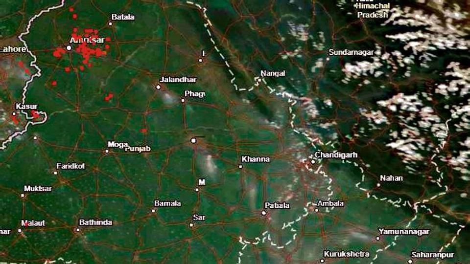 Five to seven fires were spotted in Amritsar district through satellite monitoring between September 13 and 16.