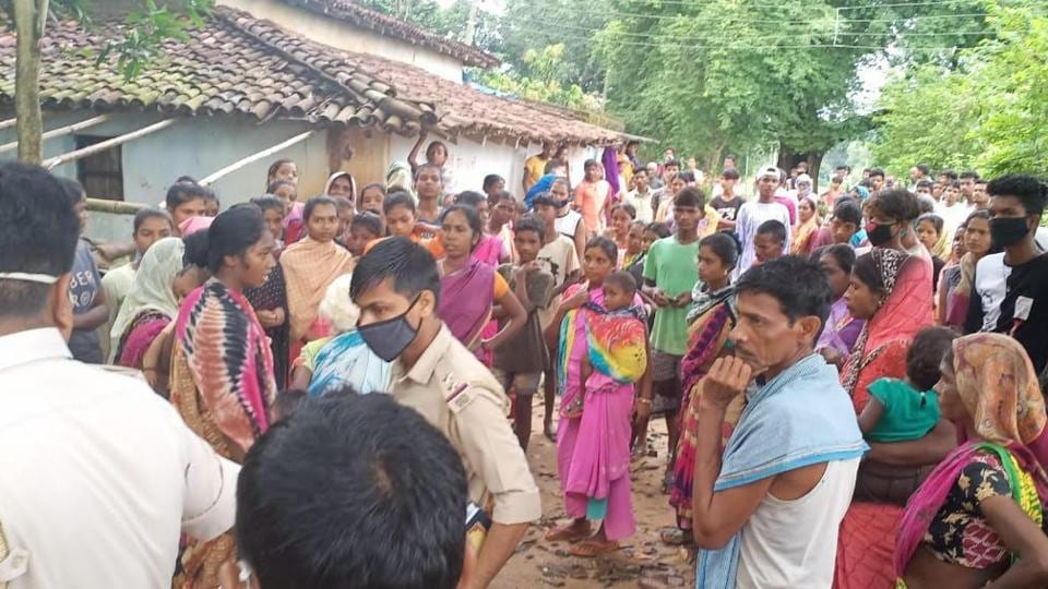 The incident took place on Saturday at Kombakera Ganjhutoli village in Kolebira block where villagers held a meeting, led by a village priest, and branded a 55-year-old woman a witch. (HT Photo)