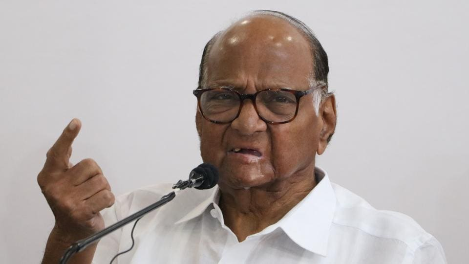 NCP chief Sharad Pawar is on day-long fast to protest the suspension of eight Rajya Sabha members.