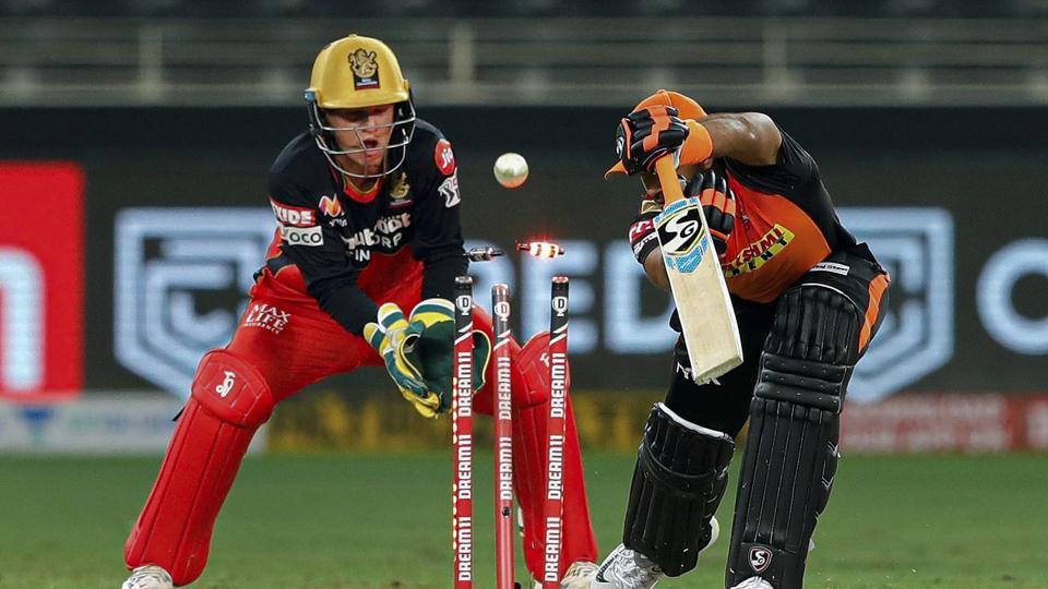 IPL 2020: Sunrisers Hyderabad batsman Vijay Shankar bowled by Royal Challengers Bangalore player Yuzvendra Chahal.