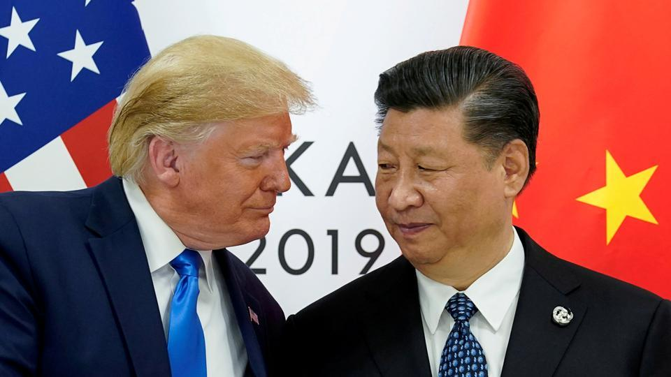 US President Donald Trump meets with China's President Xi Jinping at the start of their bilateral meeting at the G20 leaders summit in Osaka, Japan, on June 29, 2019.