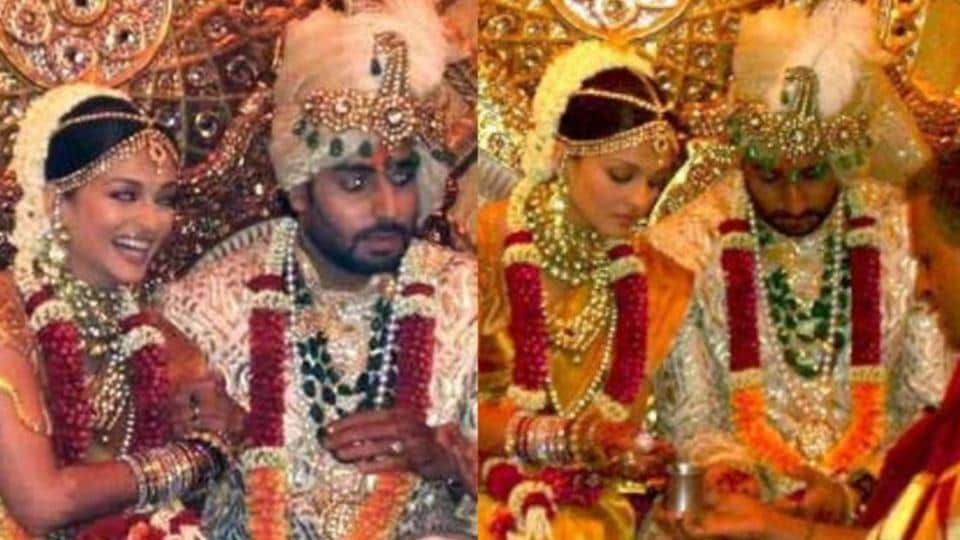 Aisharya Rai Bachchan and Abhishek Bachchan married in 2007.