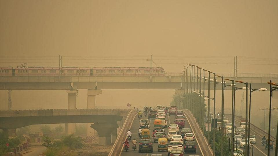 Pollution in Delhi typically begins to rise in October.