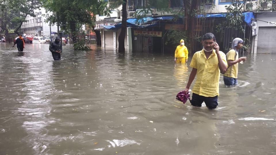 Water logging at King's Circle in Mumbai.