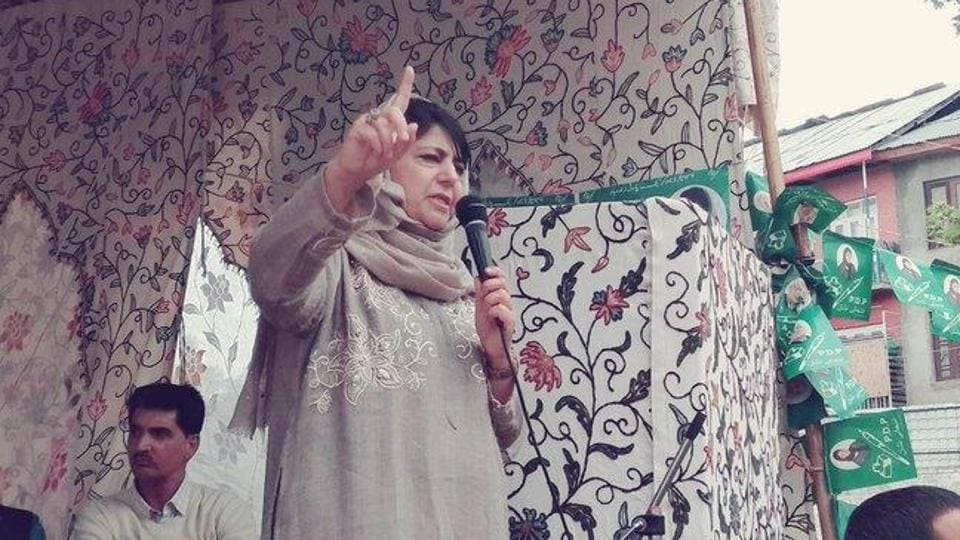 The former CM is currently lodged in her Gupkar home, which has been turned into a sub-jail, where she was shifted on April 27. (Photo @jkpdp)