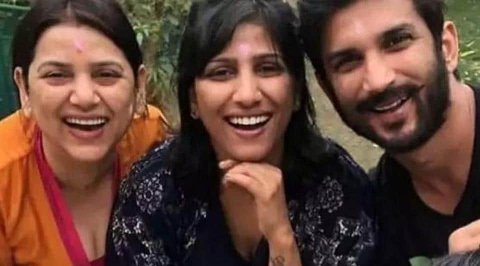 Sushant Singh Rajput with three of his sisters.