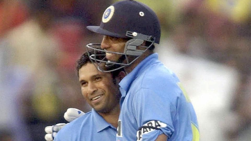 VVS Laxman and Sachin Tendulkar during one of their partnerships for India.