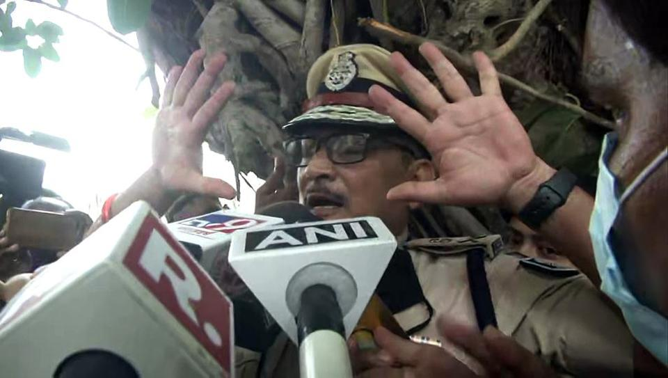 Then-Bihar DGP Gupteshwar Pandey speaks to media after the Supreme Court orders CBI investigation in Sushant Singh Rajput death case, in Patna in August  (File Photo/ANI)