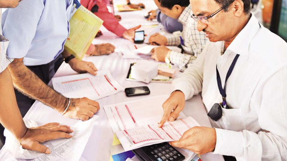 Tax department organised special camp for government employee to help file their Income Tax Returns (ITRs) in this file picture from 2015.