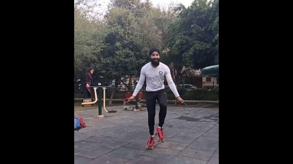The image shows record holder Zorawar Singh.