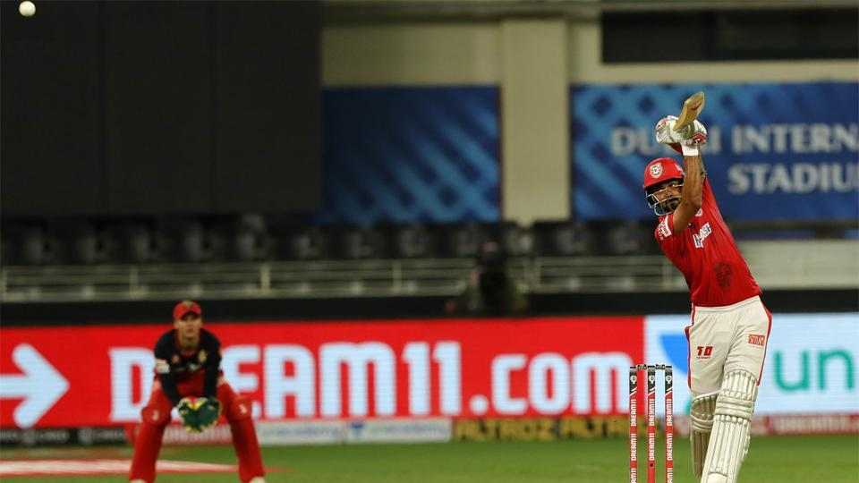 IPL 2020: KLRahul goes over the top