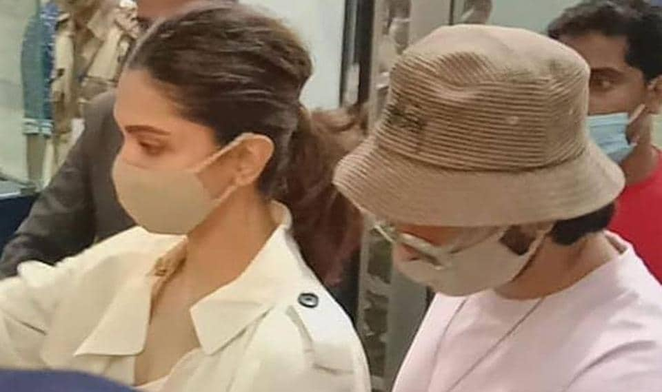 Deepika Padukone and Ranveer Singh at Goa airport.
