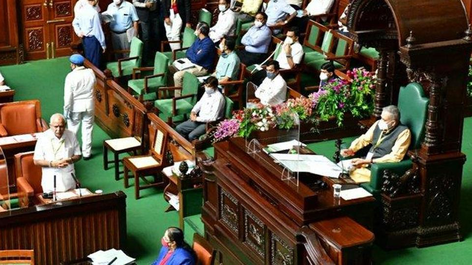 The BJP has termed the no-confidence motion a 'political gimmick' as the opposition lacks the requisite numbers. (Photo @CMofKarnataka)