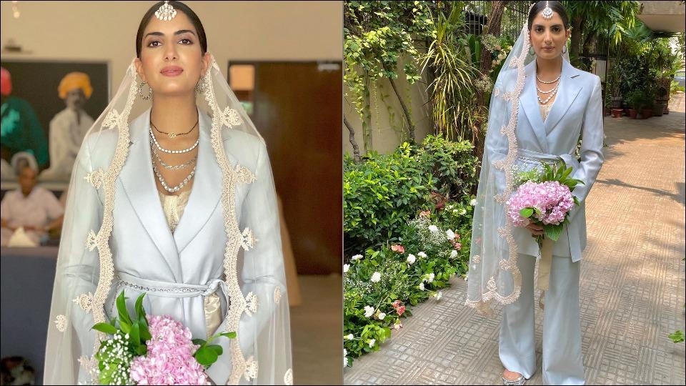 Desi bride redefines traditional bridal look as she power-dresses in a pantsuit