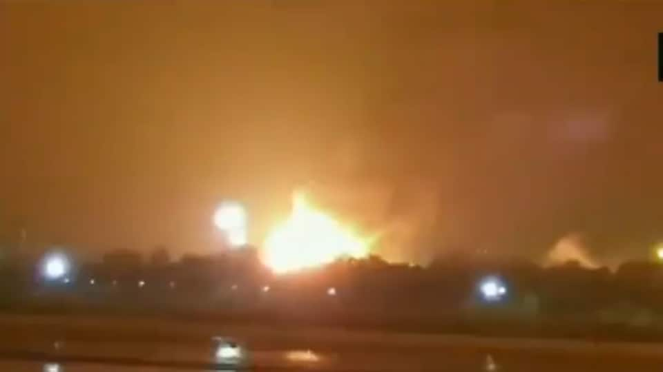 A fire broke out at an ONGC plant here in Surat
