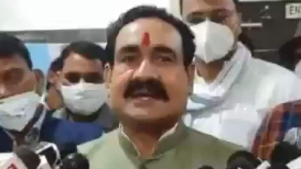 """""""I don't wear it, so what?,"""" Narottam Mishra had said when asked why he was not wearing a mask."""