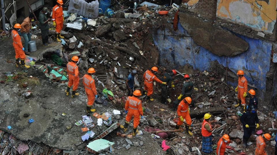 A three-storey building collapsed around 3:40 am on Monday in the Patel compound area in the Thane district.
