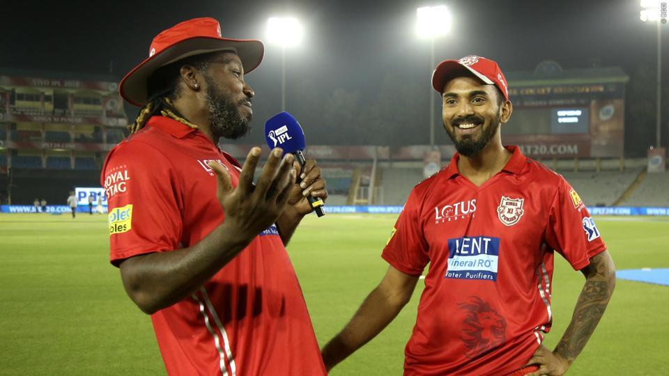 File image of Chris Gayle with KLRahul.