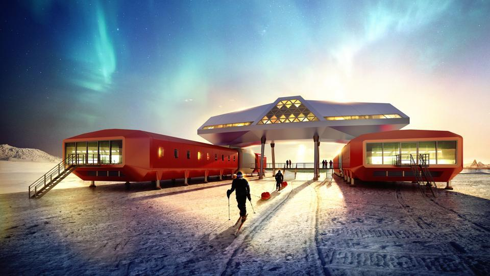 South Korea's Jang Bogo research station looks like something out of a sci-fi film. New designs keep human comforts in mind so scientists don't suffer on their long stints on the icy continent.