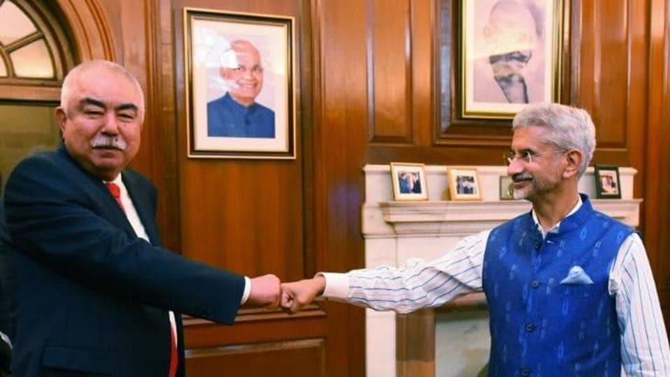 """Glad to meet Marshal Abdul Rashid Dostum. Exchanged views on developments in Afghanistan and the larger region,"" Jaishankar tweeted."