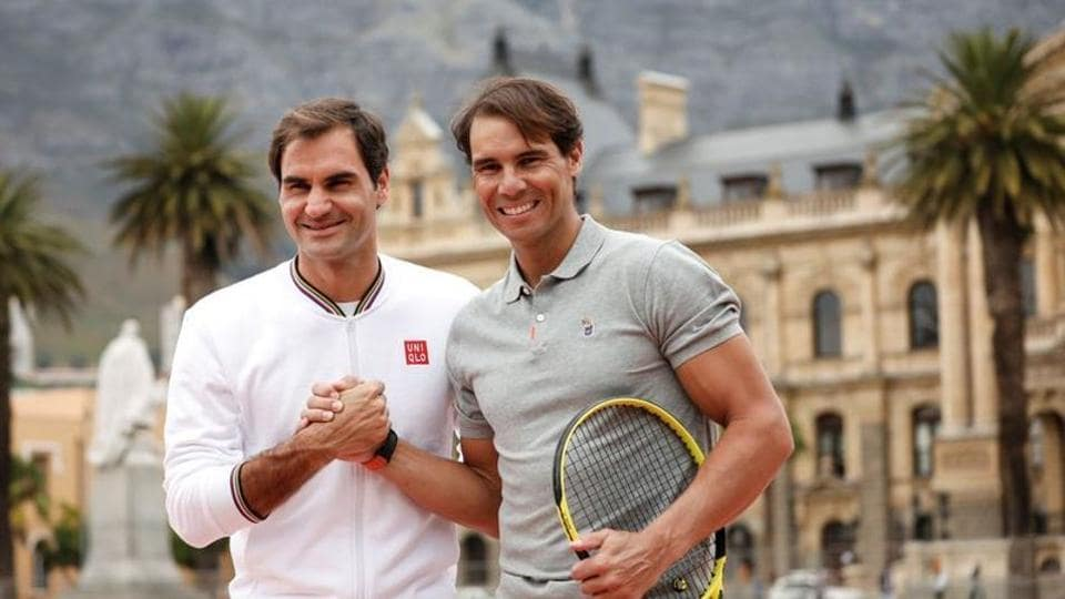 Roger Federer and Rafael Nadal ahead of their