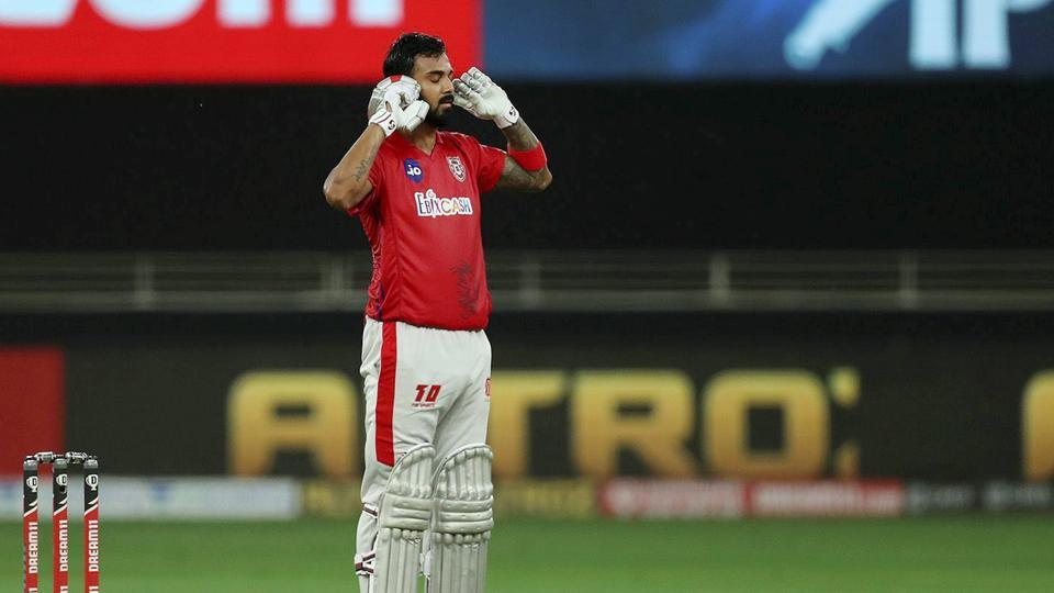 Kings XI Punjab skipper KL Rahul after scoring a century during IPL 2020 cricket match against Royal Challengers Bangalore.