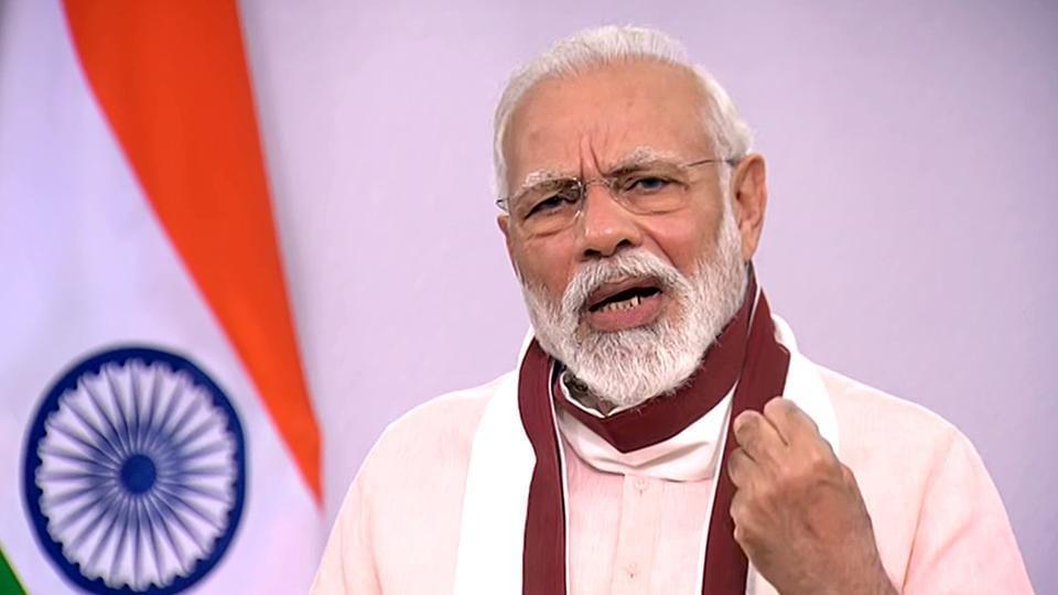 New Delhi, May 12 (ANI): Prime Minister Narendra Modi addresses the nation, in New Delhi on Tuesday. (ANI Photo)