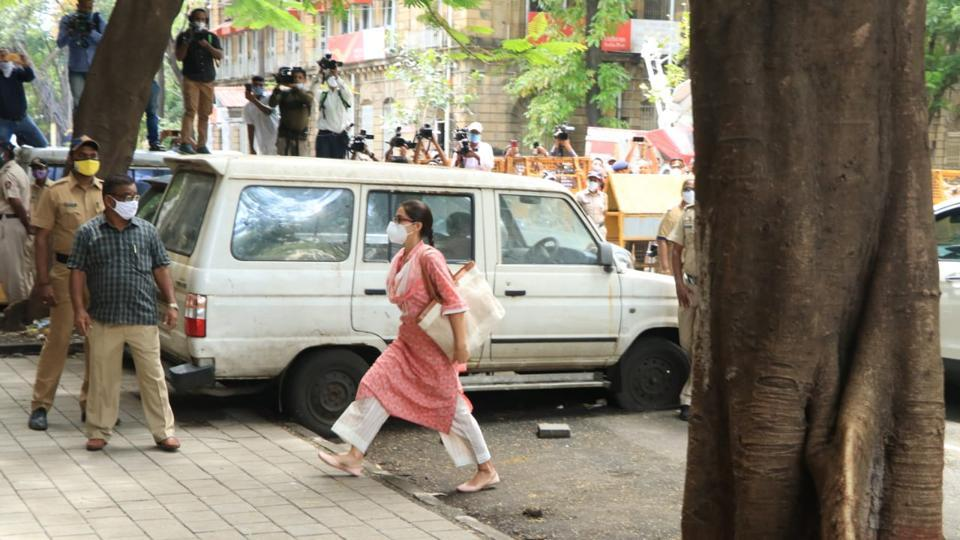 Sara Ali Khan arrives at NCB office for questioning.