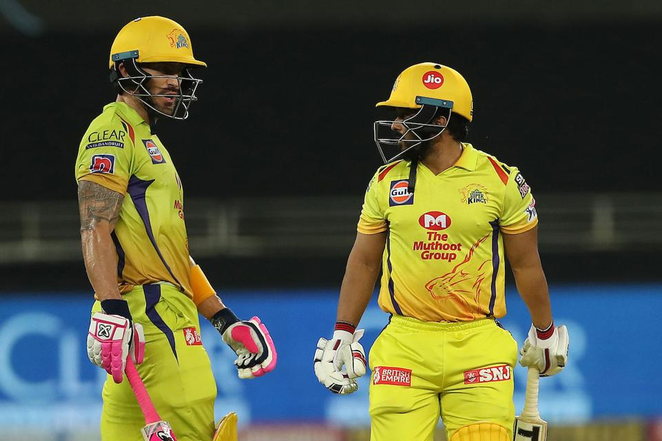 Kedar Jadhav and Faf du Plessis gave CSK a chance with a 54-run partnership for the fourth wicket (pti)