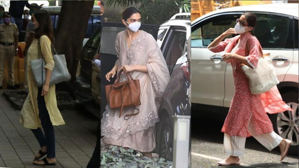 Shraddha Kapoor, Deepika Padukone and Sara Ali Khan ahead of their questioning by NCB on Saturday.