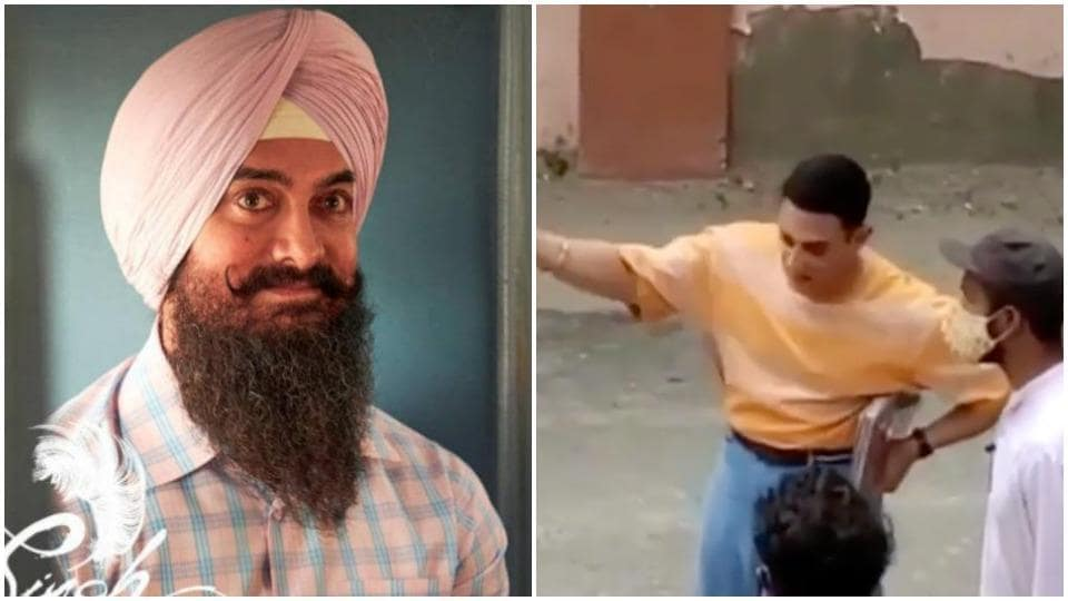 Aamir Khan spotted shooting for Laal Singh Chaddha in Delhi, fans say 'he's looking so young'. Watch... - Hindustan Times