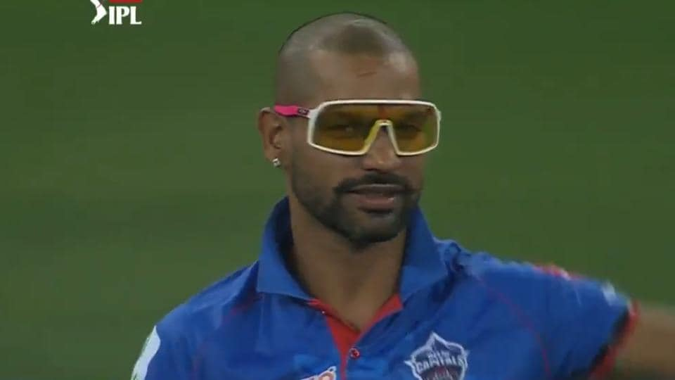 Shikhar Dhawan and his uber-cool glasses during IPL 2020 match against CSK.