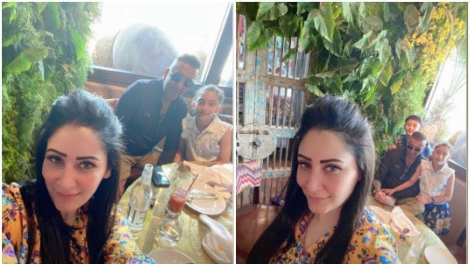 Maanayata Dutt and Sanjay Dutt are in Dubai with their kids.