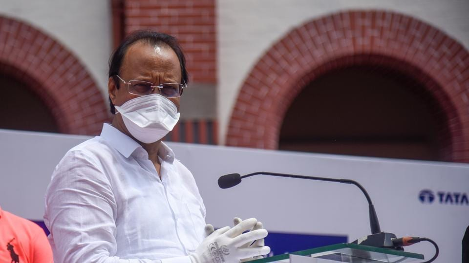Deputy CM of Maharashtra Ajit Pawar speaks at ambulance handing over ceremony at Council hall in Pune, India, on Friday, September 25, 2020.