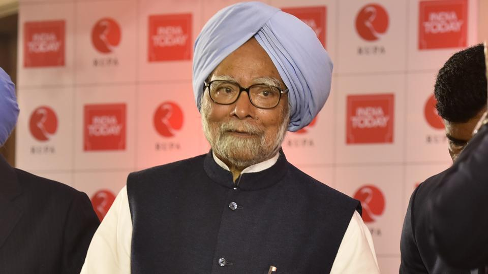 Former prime minister Manmohan Singh at a book launch in New Delhi in February 2020.
