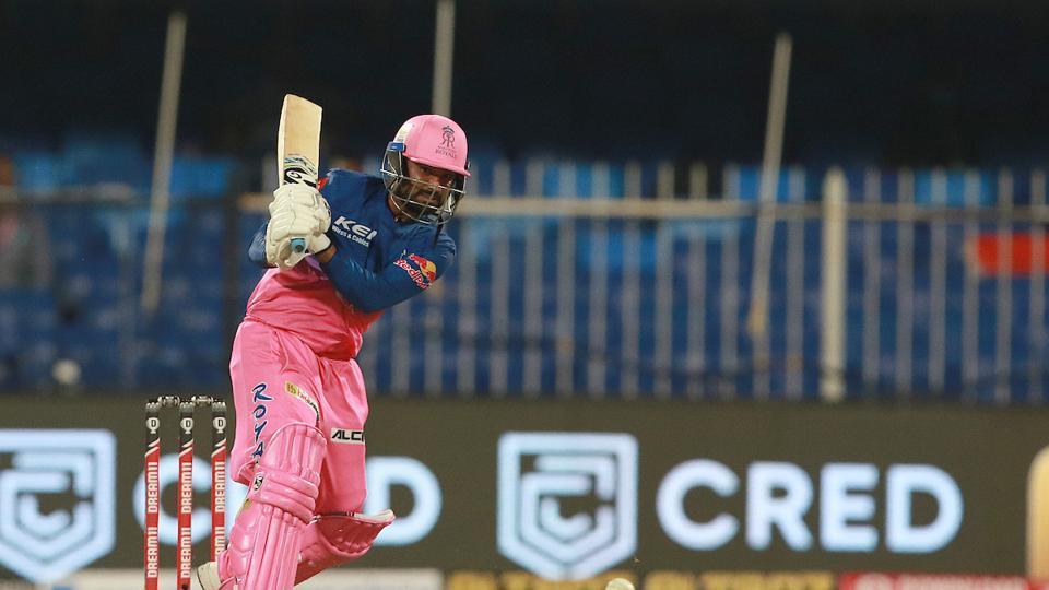 RahulTewatia hits a six. (IPL/Twitter)