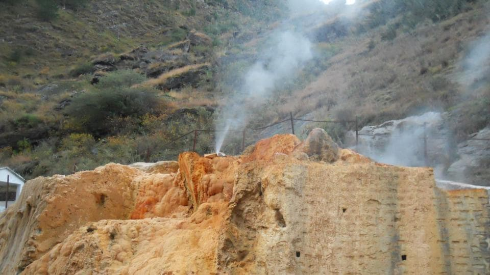View of Shaldhar geothermal spring in Garhwal Himalayas