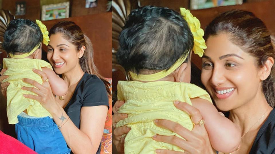 Shilpa Shetty with daughter Samisha.