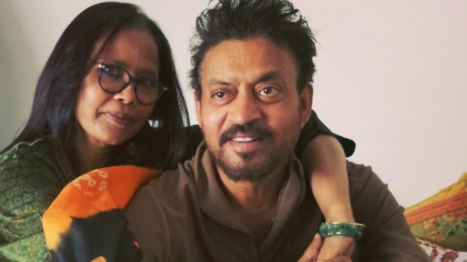 Sutapa Sikdar with Irrfan Khan.