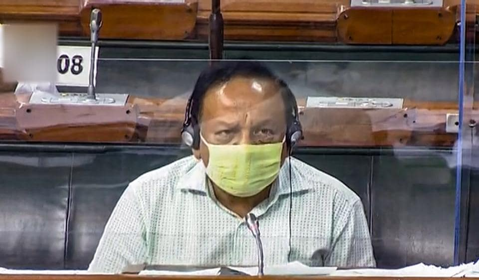 Union Minister for Health Harsh Vardhan in the Lok Sabha during the recently concluded Monsoon Session of Parliament.